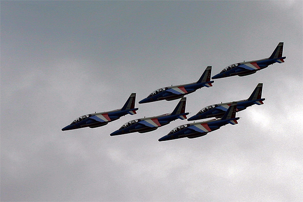 Photographie patrouille acrobatique de France, pilotes